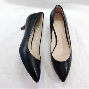 Cole Haan Quincy Black Kitten Heel Pumps Heels 10